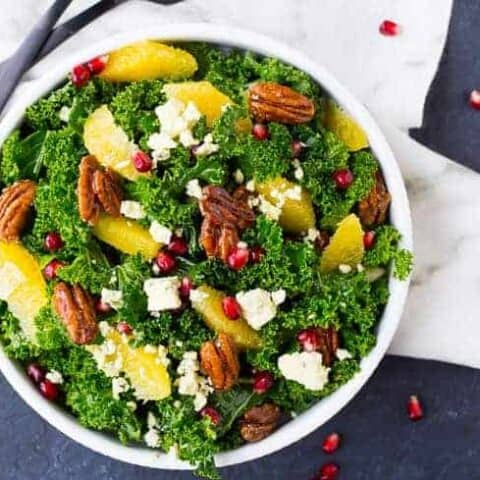 Christmas Salad Recipe with Pomegranate and Pecans