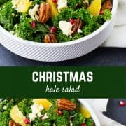 Boasting the flavors and colors of Christmas, this Christmas salad recipe will be a welcome healthy addition to any holiday menu! Get the recipe on RachelCooks.com!