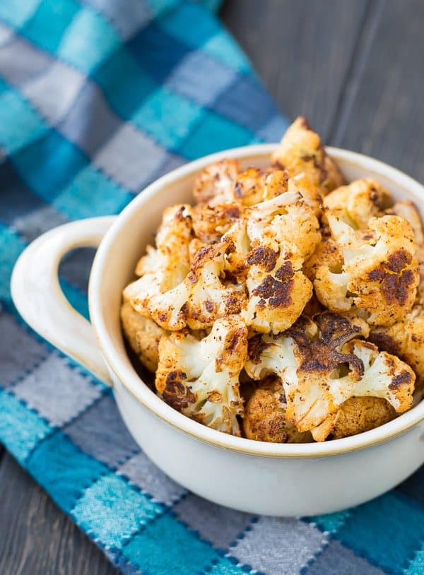 Roasted Cauliflower with Chili Powder is absolutely perfect on its own but it's also an ideal addition to salads and burrito bowls. You might even find yourself reaching for the chili powder every time you roast cauliflower!Get the recipe on RachelCooks.com!