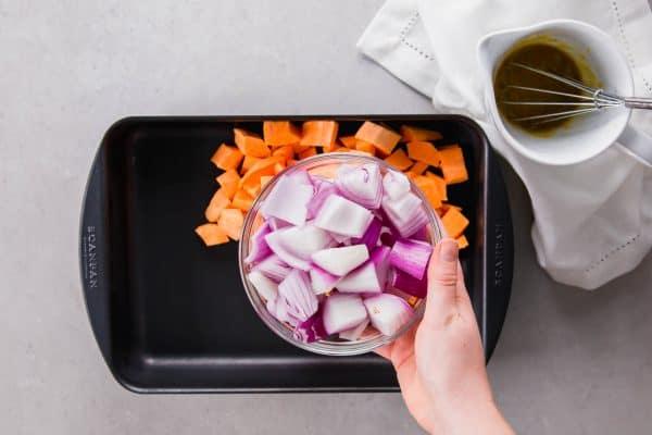 Roasted Sweet Potatoes Prep
