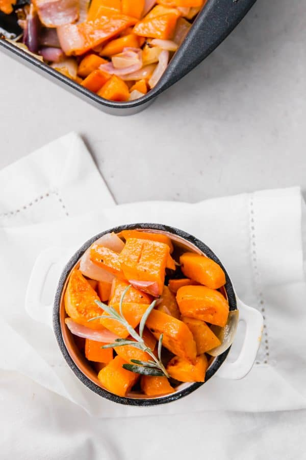 Maple Mustard Roasted Sweet Potatoes and Onions | RachelCooks.com