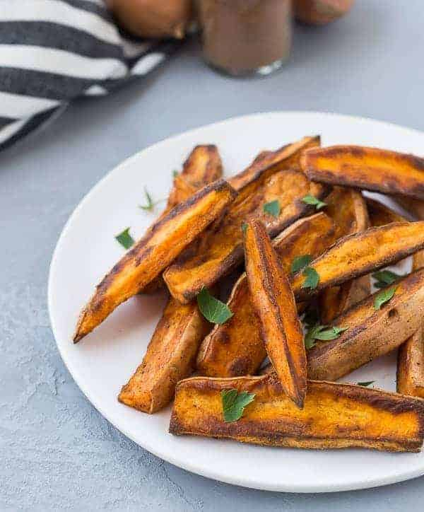 These Sweet Potato Wedges with Chinese Five Spice will become your new favorite way to eat sweet potatoes. They're easy to make (baked, not fried!) and they're completely irresistible...you won't be able to stop eating them! Get the Paleo Recipe on RachelCooks.com!