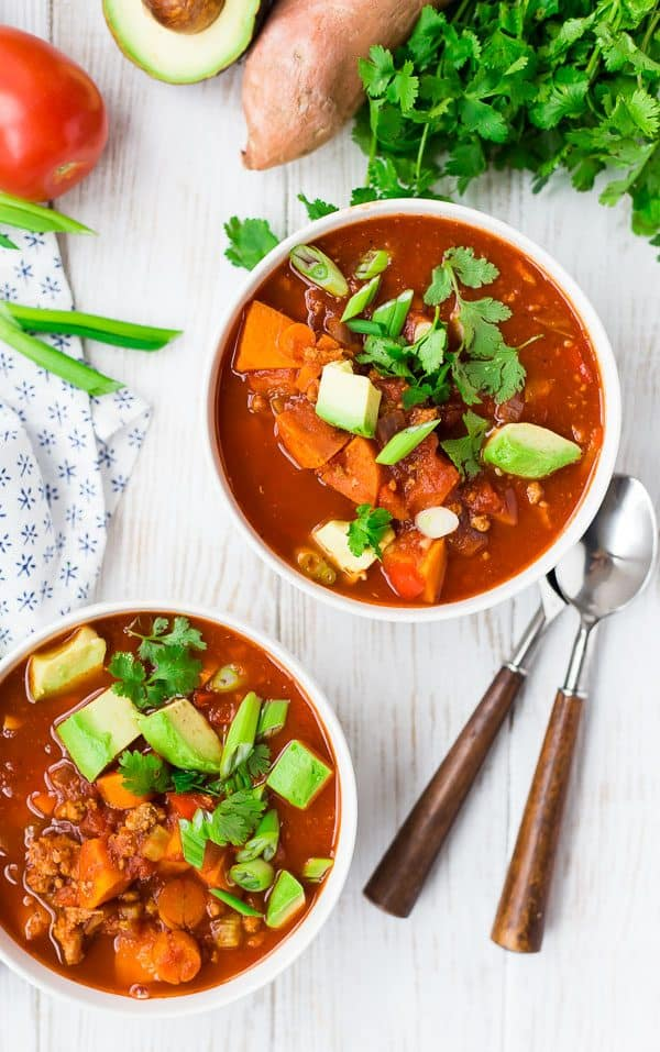 Instant Pot Chili Recipe Photo - Whole30 and Paleo