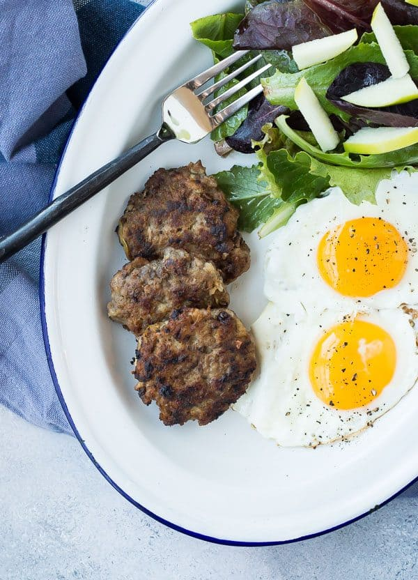 Whole30 sausage photo with eggs