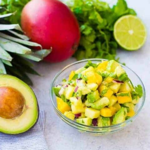 Mango Avocado Salsa with Pineapple
