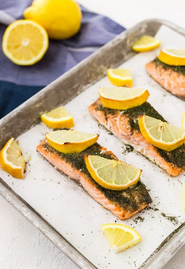 lemon salmon with dill recipe photo