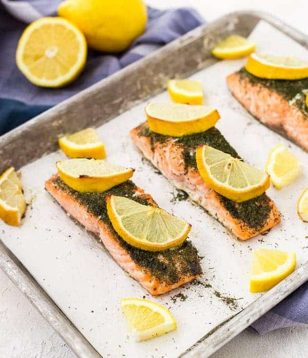 Lemon Salmon with Dill