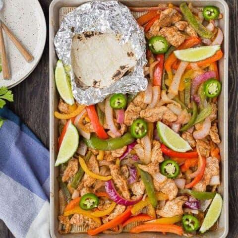 Sheet Pan Fajitas - Easy Recipe for Chicken Fajitas!