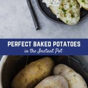 Making Instant Pot Baked Potatoes is significantly faster than baking them in the oven and yields great results! Once you try this method, it's going to be your preferred method of making baked potatoes. Make them tonight and you'll see!Get the easy recipe on RachelCooks!