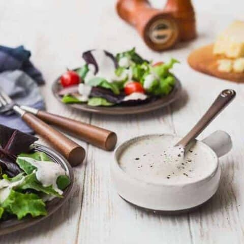 Parmesan Peppercorn Dressing - Healthy and Easy!