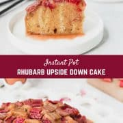 Rhubarb Instant Pot Cake became an instant favorite in our family and I know you're going to love it too! Ultra-moist and super flavorful, it's easy to make and even easier to eat. If rhubarb isn't in season, it would be terrific with apples, too!