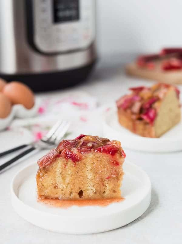 Image of Instant Pot Cake with Rhubarb