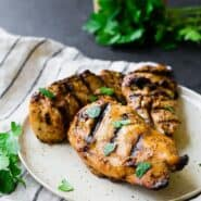 Image of Grilled Chicken Breasts with parsley sprinkled on top