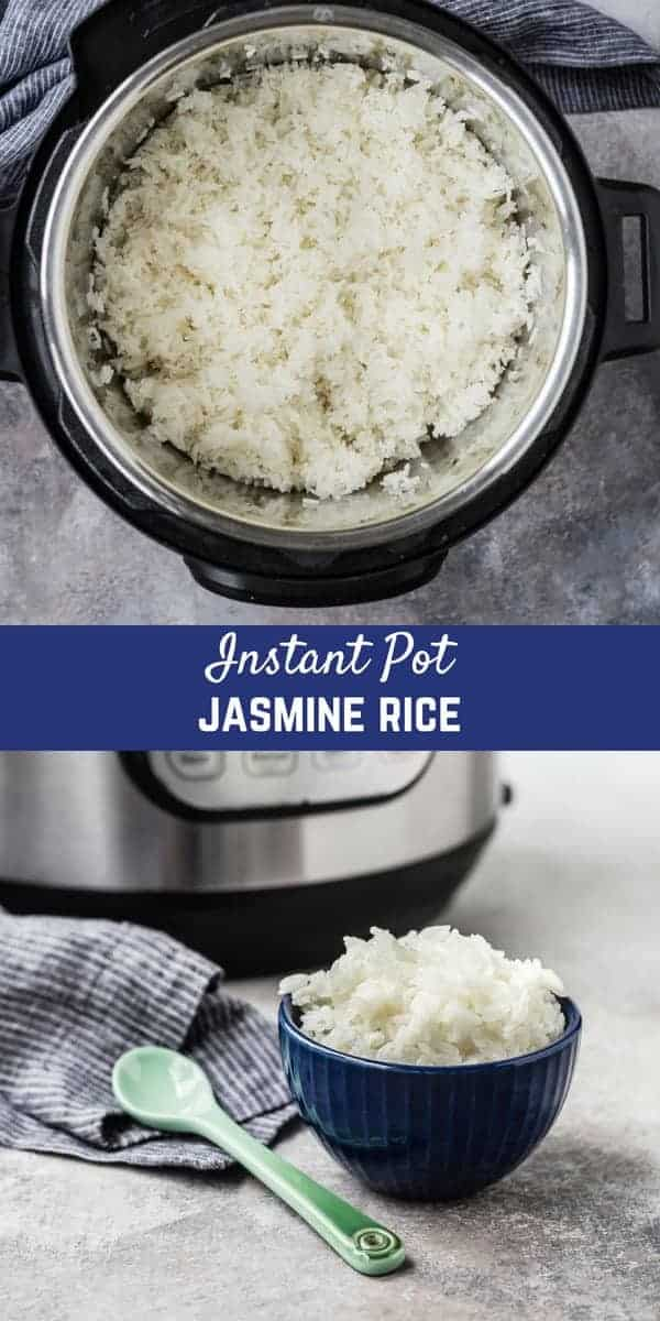 Instant Pot Jasmine Rice is fluffy, perfect, and so easy to make. You don't need a rice cooker to have the most delicious, perfectly cooked rice for your next stir fry dinner!