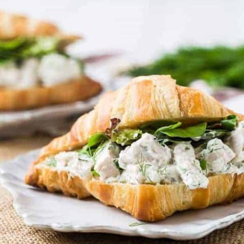 Dill Chicken Salad - Healthy and Easy!