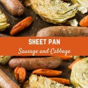This Sausage Sheet Pan Dinner with Cabbage and Carrots is an easy and delicious meal, made on one pan in about 45 minutes. You're going to love it for busy weeknights!