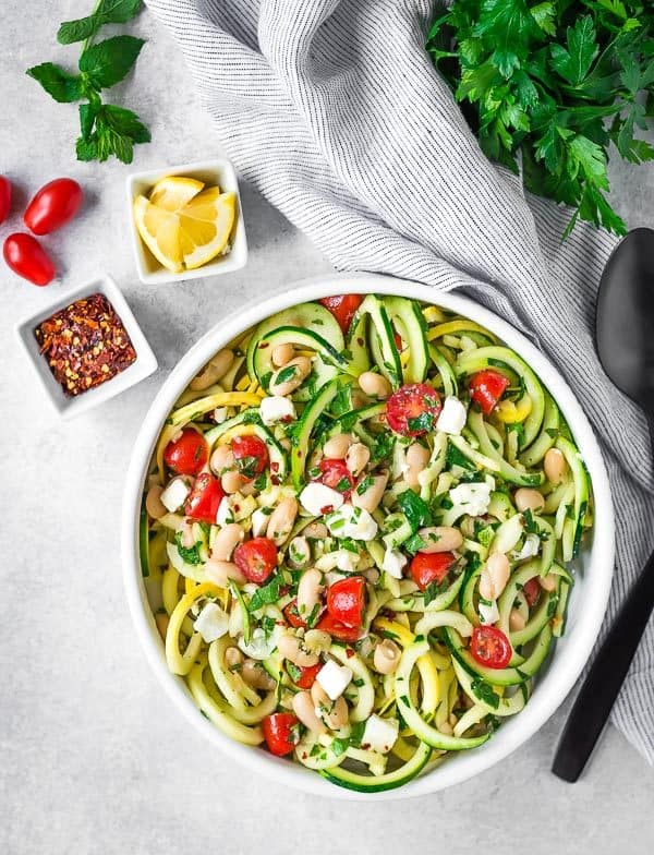 This healthy and easy to make salad is hearty enough to serve as a vegetarian meal, but it can also serve as a flavorful side salad that everyone will love.Get the recipe on RachelCooks.com!