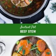Cozy, comforting, and made so quickly and easily under pressure, this Instant Pot Beef Stew is going to become an instant favorite.