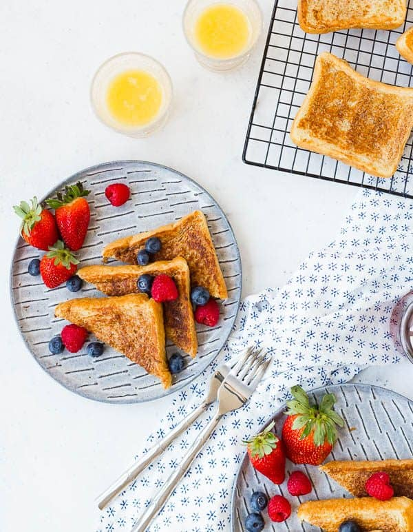 This French toast recipe is everything you want in a classic piece of French toast. Read all my tips and you'll be making the best French toast you've ever had!