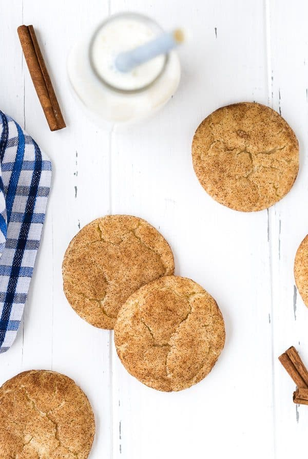This is the best snickerdoodle recipe - they're soft and chewy with the perfect crispy edge. No chilling of dough required for these snickerdoodles!