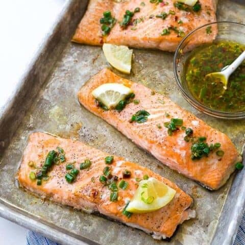 Easy Baked Salmon with Lemon and Chives