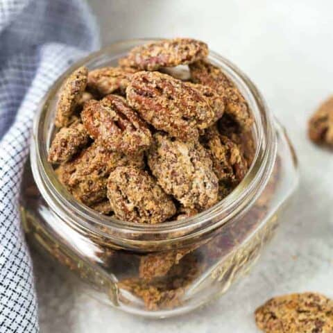 Sweet and Spicy Candied Bourbon Pecans
