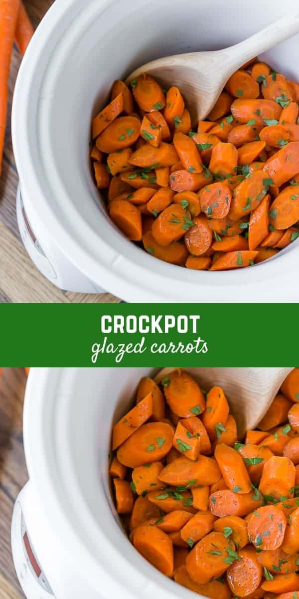 Sweet and gently spiced, these crockpot glazed carrots are perfect for entertaining or for everyday meals: delicious, nutritious, and easy to make!