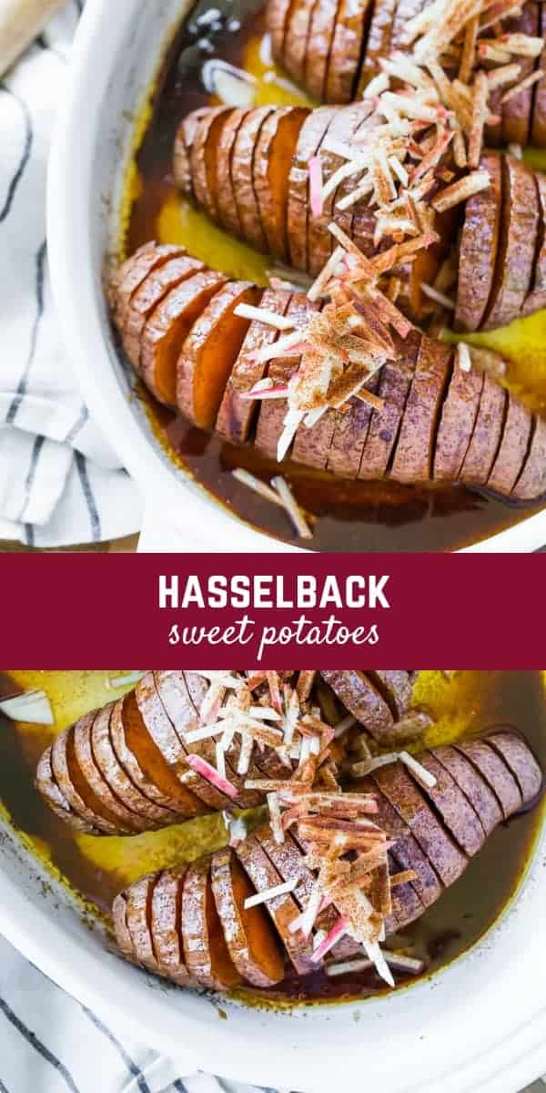 Sweet and delicious, these roasted Hasselback Sweet Potatoes make an impressive presentation yet are easy enough to add to your everyday menu. No hassle required!