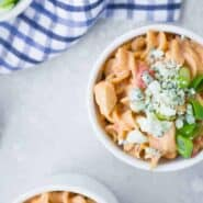 Photo of Buffalo Chicken Pasta made in a pressure cooker