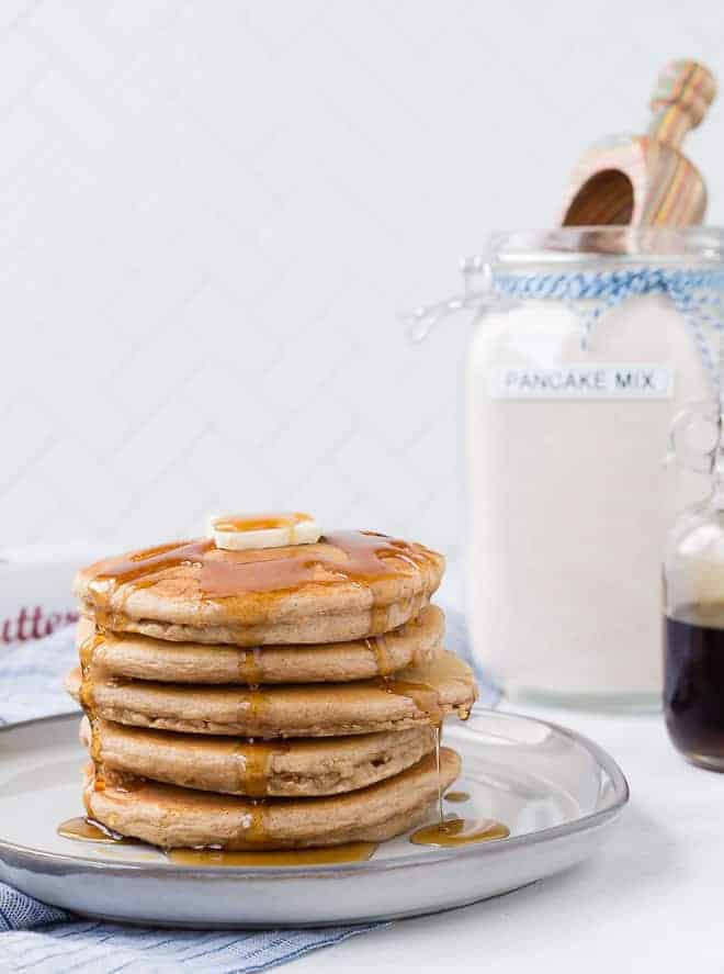 Replace your favorite boxed pancake mix with this easy homemade pancake mix! Whether your go-to is Aunt Jemima, Bisquick, or Krusteaz, I'm willing to bet you'll like these even better!