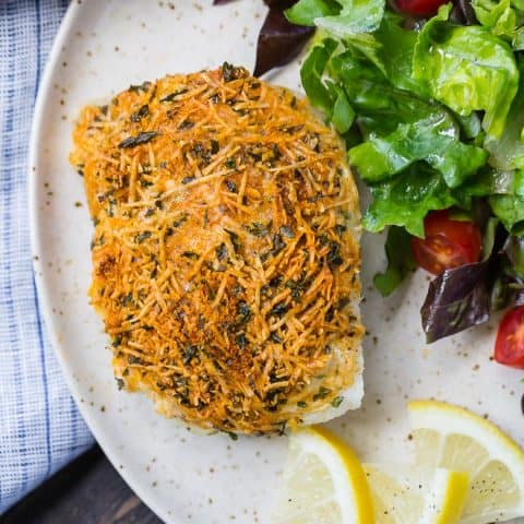 Parmesan Baked Cod Recipe with Lemon