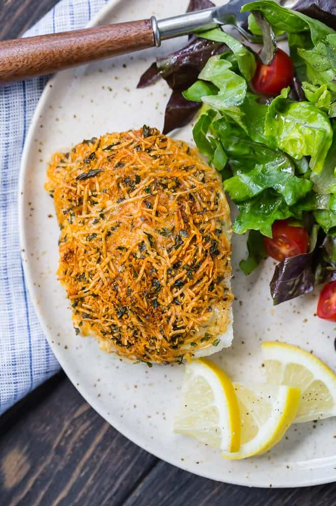 Image of parmesan baked cod.