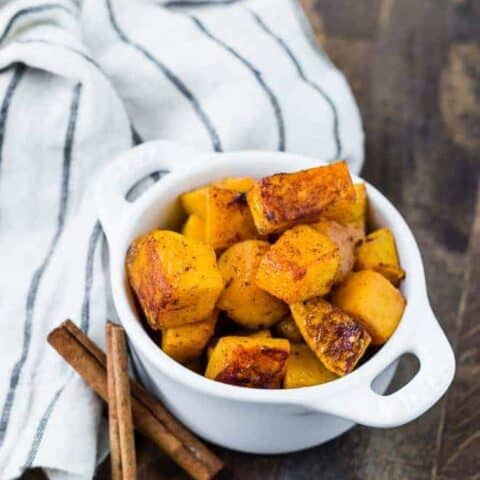 Spicy Sweet Roasted Butternut Squash