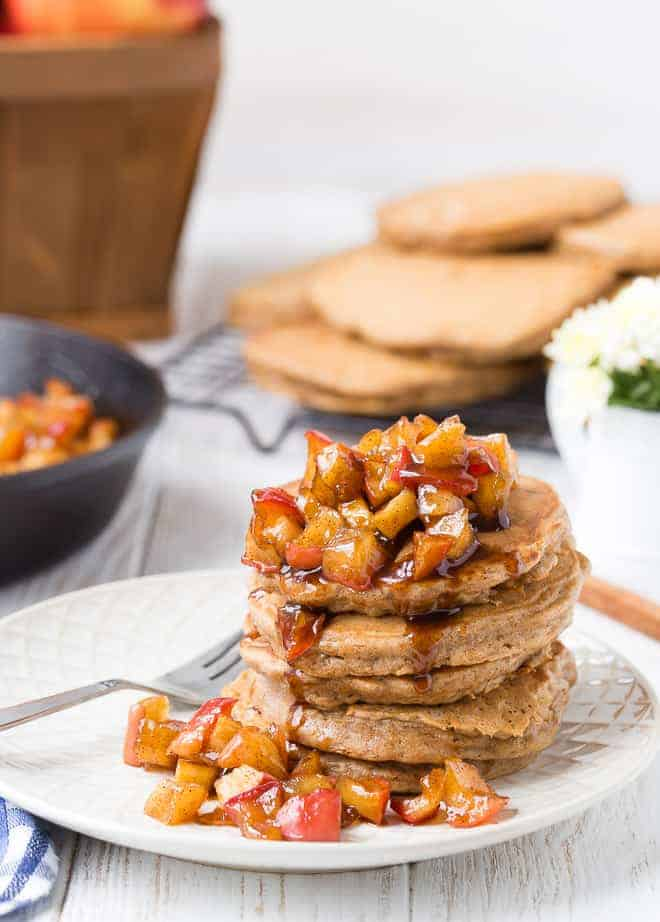 image of apple spice pancakes