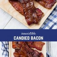 """Candied bacon, """"pig candy"""", bacon candy, pork candy, call it what you will, this irresistible treat will have everyone calling for more! This candied bacon recipe is easy to whip up and is a guaranteed favorite!"""