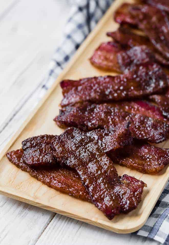 Image of pig candy, or bacon that has been candied.