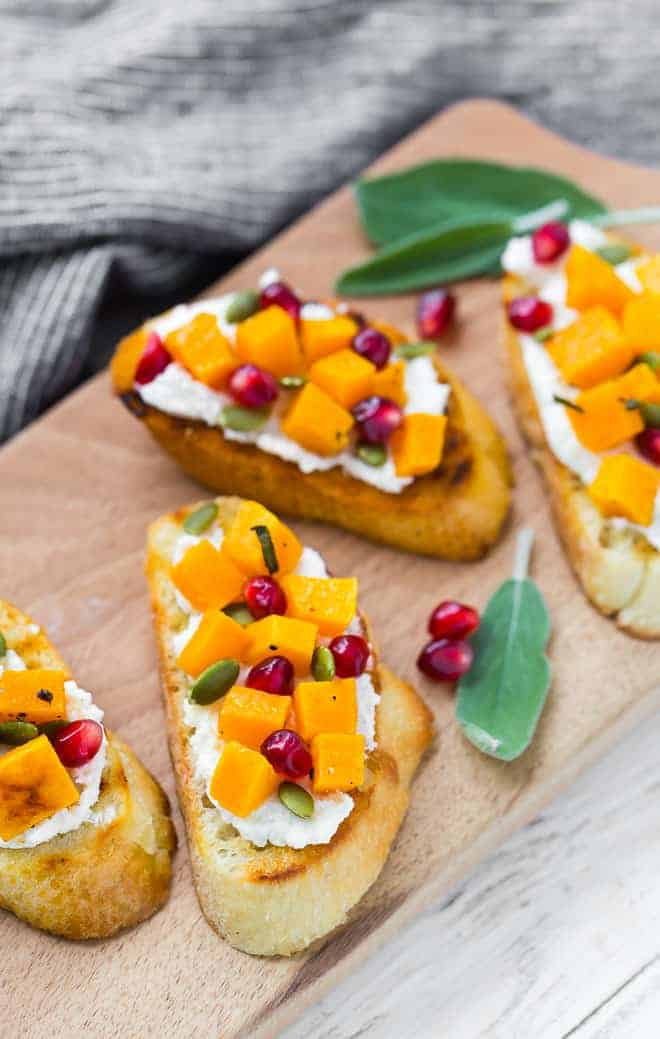 Butternut squash isn't only for soup! These butternut squash crostini appetizers elevate this humble fall gourd to super star status!