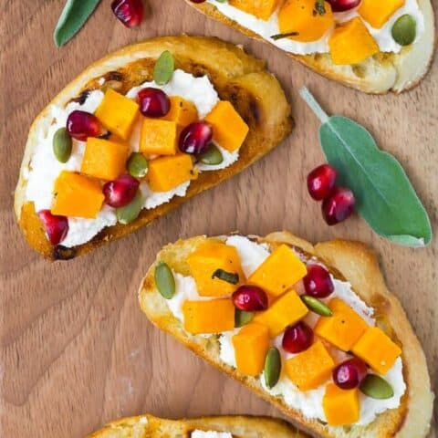 Butternut Squash Crostini with Ricotta