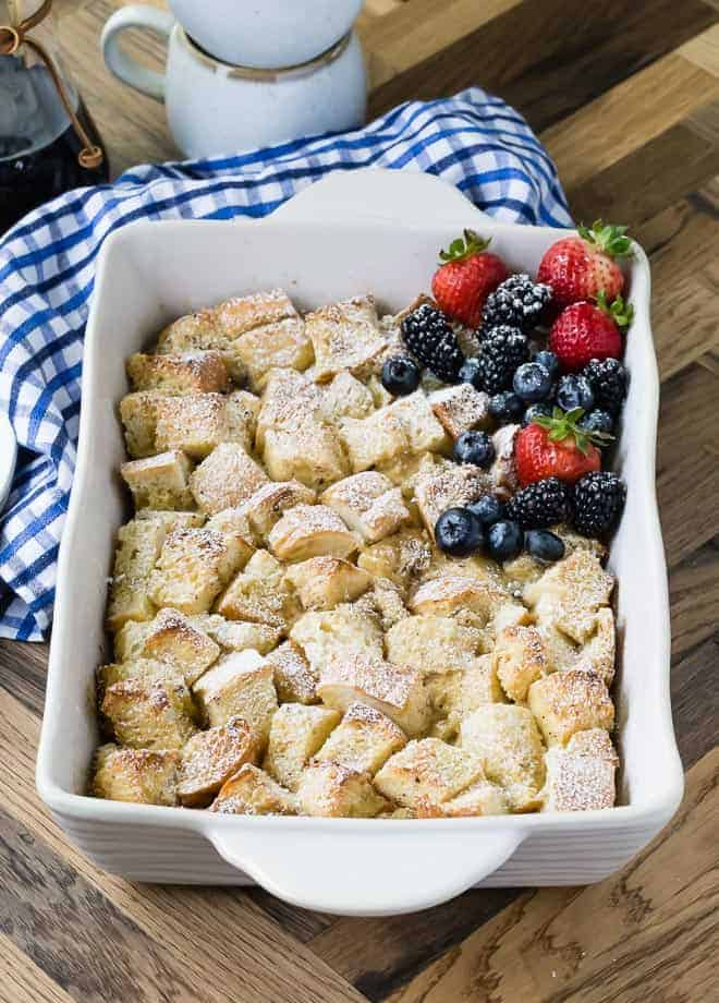 image of french toast baked in a baking dish