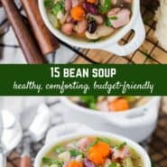 This 15 bean soup is a warm and comforting soup, perfect for cool weather - and includes no strange seasoning packets!