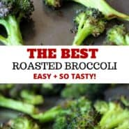 Oven roasted broccoli is the best broccoli ever! Simply delicious, crispy and the perfect side dish. Once you learn how to roast broccoli, you'll never go back to any other method. It's easy, and by far the best broccoli you'll ever taste. #roasted #broccoli #easy #vegan