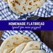 Similar to naan, pita, or chapati, this leavened flatbread recipe is easy to make and so versatile! Use as a wrap, pizza crust, or just eat warm from the pan!
