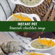 Creamy and delicious, this healthier Instant Pot broccoli cheese soup is a cinch to make and tastes so much better than the restaurant version. It's perfect for a vegetarian or gluten-free dinner or lunch.