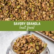 Perfect as a crunchy topping for salads, soups, grain bowls, or as a wholesome snack, this savory granola is a cinch to make and will disappear quickly.