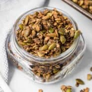 Image of granola in a jar.
