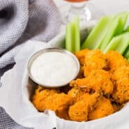 "Image of buffalo cauliflower ""wings."""