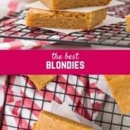 制作简单,这美味的食谱Blondie的肯定会是一个最喜欢的。糊糊blondies融化在你的嘴与奶油焦糖味。试戴今天!