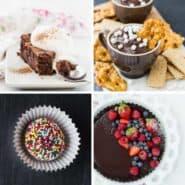 美味的巧克力很容易集合包括甜点蛋糕,馅饼,冰淇淋,饼干,和蘸料。一个巧克力爱好者的梦想!