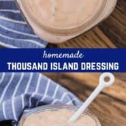 Easily made from scratch, homemade Thousand Island dressing is so much tastier and more economical than store bought. Use it for salads, sandwiches, or as a delicious fry sauce.