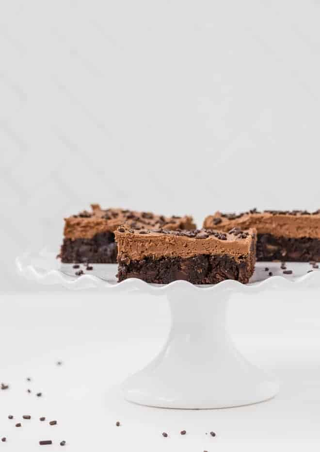 Image of chocolate brownies flavored with espresso powder.